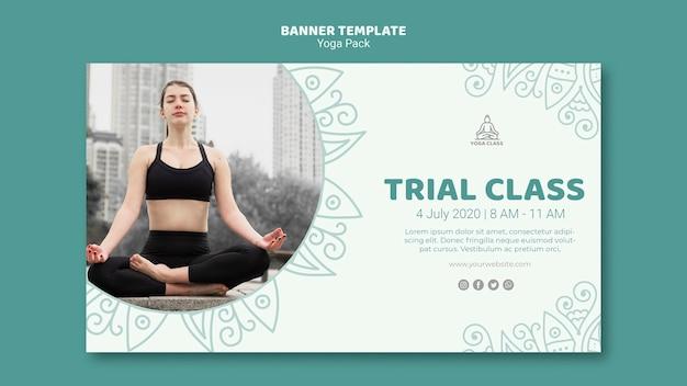 Yoga pack banner sjabloon concept
