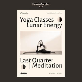 Yoga praktijk poster sjabloon