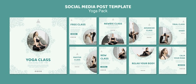 Yoga sociale media post sjabloon