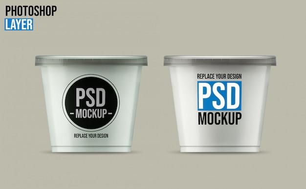 Yoghurt cup mockup ontwerp