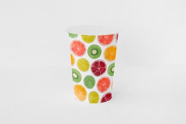 Yoghurt cup mockup