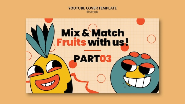 Youtube cover drank karakters ontwerpsjabloon