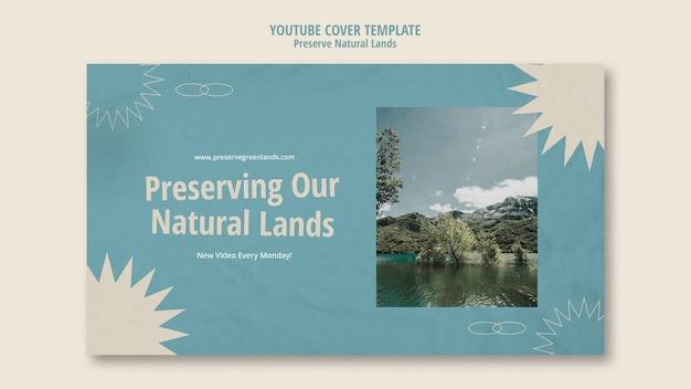 Youtube cover voor natuurbehoud met landschap