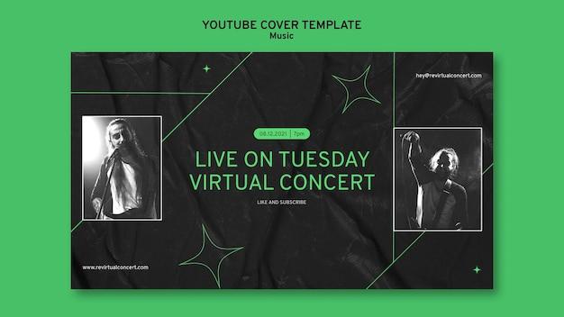 Youtube-cover voor virtueel concert