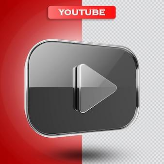 Youtube icoon 3d render modern