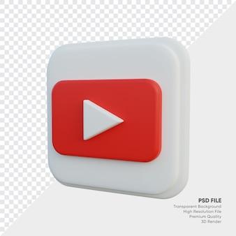Youtube isometrische 3d-stijl logo concept pictogram in ronde hoek vierkant geïsoleerd