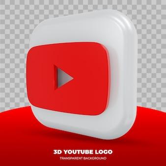 Youtube-logo geïsoleerd in 3d-rendering