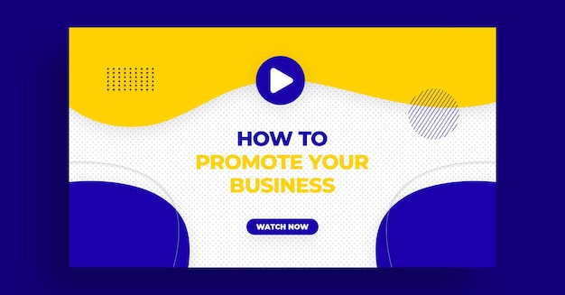 Youtube-miniatuur- of webbannersjabloon voor live workshop over digitale marketing