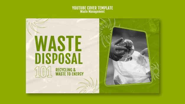 Youtube-omslagontwerpsjabloon voor afvalbeheer