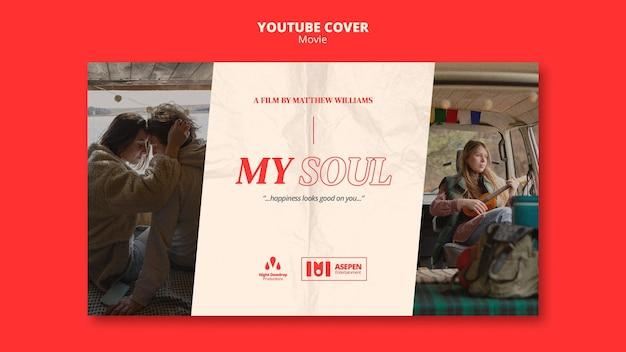 Youtube-omslagsjabloon voor filmentertainment