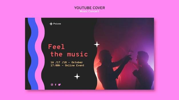 Youtube-omslagsjabloon voor muziekconcerten
