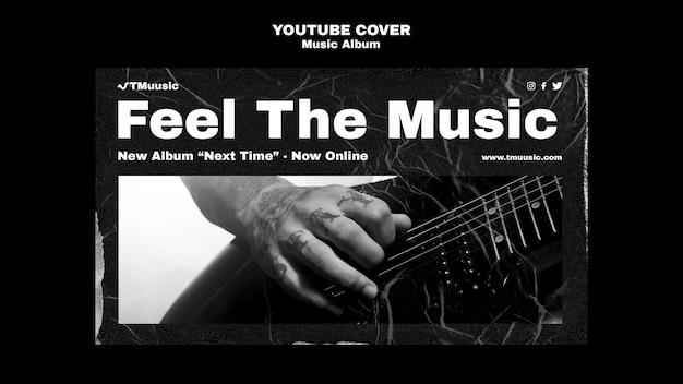 Youtube-omslagsjabloon voor nieuw muziekalbum