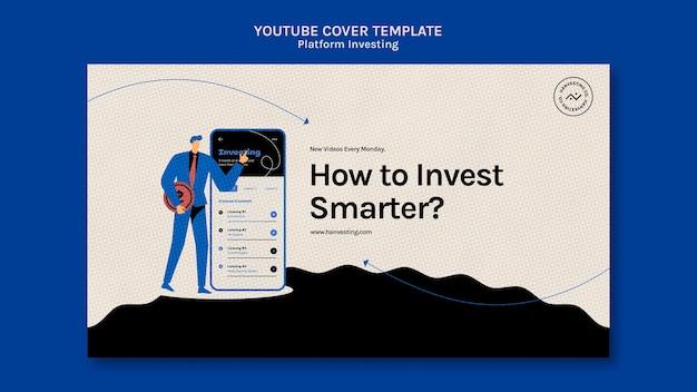 Youtube-omslagsjabloon voor platforminvestering