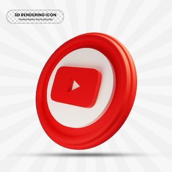 Youtube-pictogram in 3d-rendering