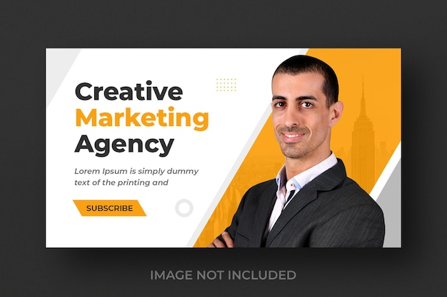 Youtube-videominiatuur voor creatieve digitale marketingactiviteiten