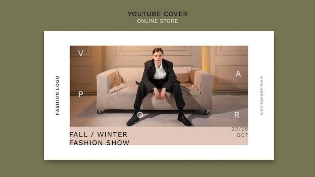 Youtube-voorbladsjabloon voor minimalistische online modewinkel
