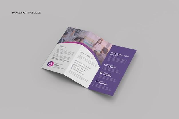 Z driebladige brochure mockup