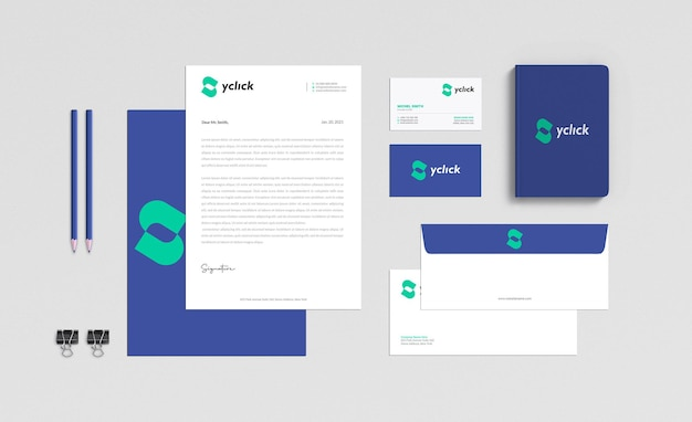 Zakelijk briefpapier mockup ontwerp