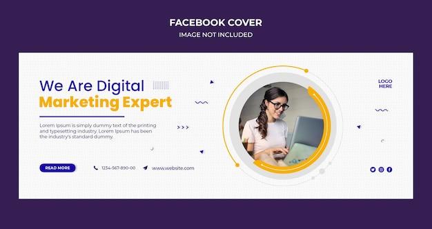 Zakelijk bureau facebook-omslag en webbannermalplaatje