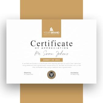 Zakelijk certificaatsjabloon