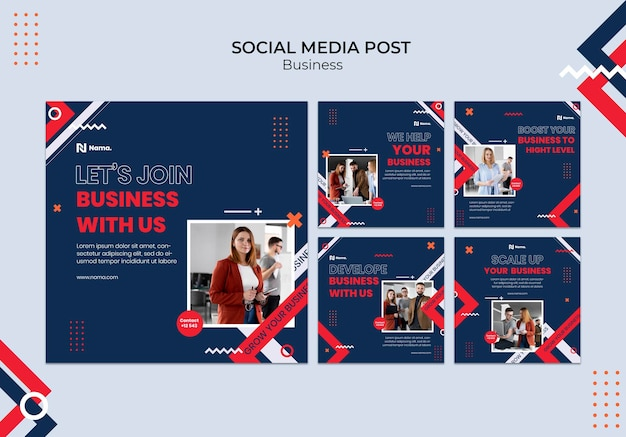 Zakelijk concept social media bericht Gratis Psd