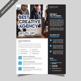 Zakelijk flyer template design