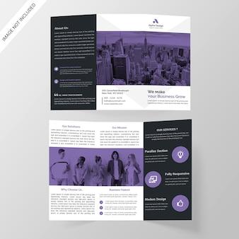 Zakelijk gevouwen brochure