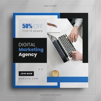 Zakelijk instagram-verhaal en zakelijke digitale marketing social media postsjabloon