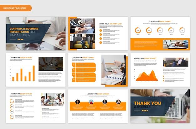 Zakelijk opstarten en bedrijfsoverzicht presentatiediasjabloon