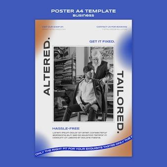 Zakelijke a4 poster sjabloon