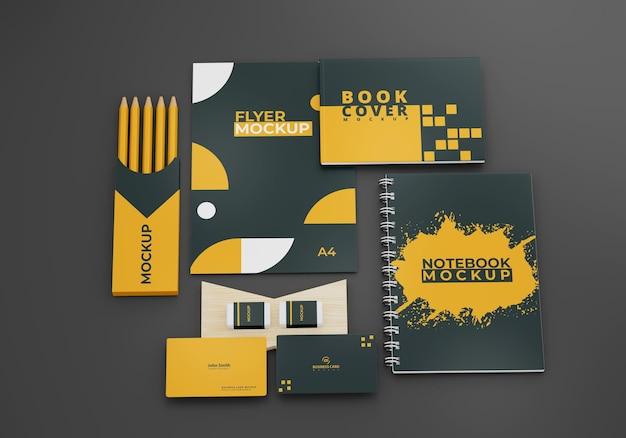 Zakelijke briefpapier mock-up ontwerp branding