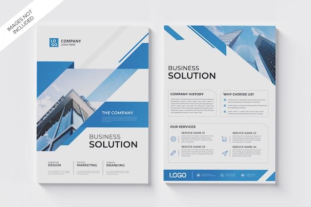 Zakelijke brochure folder a4 sjabloon
