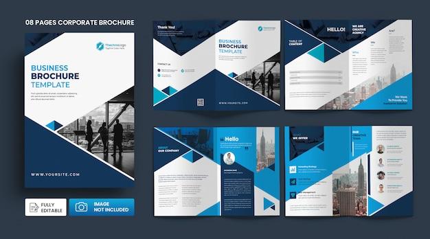 Zakelijke brochure profielpagina's