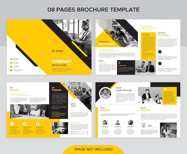Zakelijke brochure van 8 pagina's