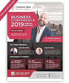 Zakelijke conferentie folder