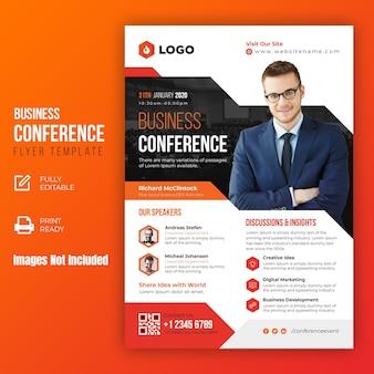 Zakelijke conferentie sjabloon folder