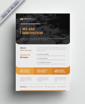Zakelijke creatieve zakelijke folder