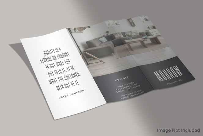 Zakelijke driebladige brochure mockup