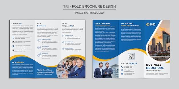 Zakelijke driebladige brochure