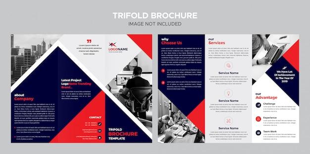 Zakelijke driebladige brochuremalplaatje