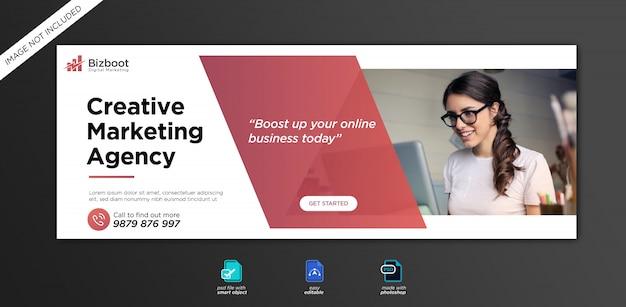 Zakelijke en digitale zakelijke marketing promotie facebook omslagsjabloon