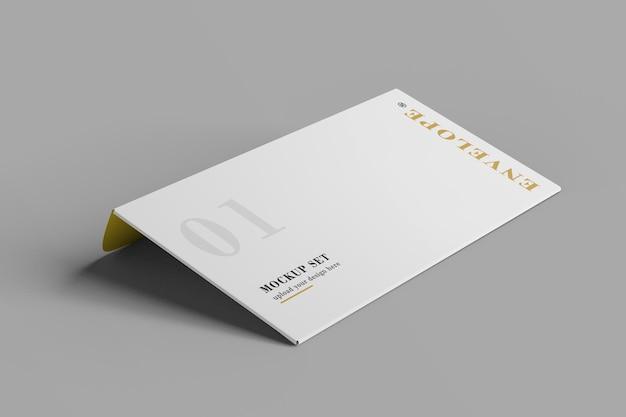 Zakelijke envelop mockup ontwerp 3d-rendering
