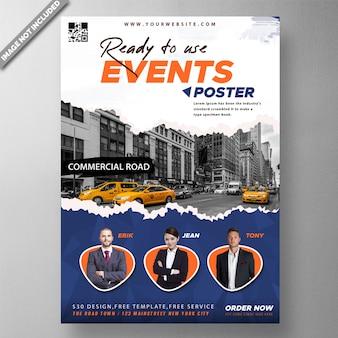 Zakelijke evenement poster