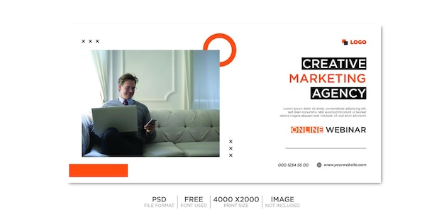 Zakelijke facebook-omslag en webbanner