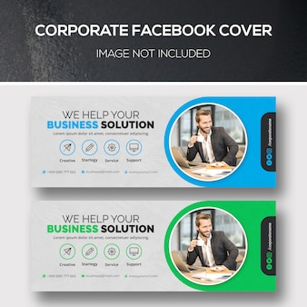Zakelijke facebook-omslag