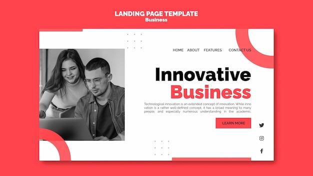 Zakelijke innovatie websjabloon