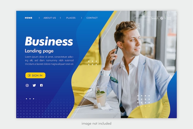 Zakelijke landingspagina website sjabloon