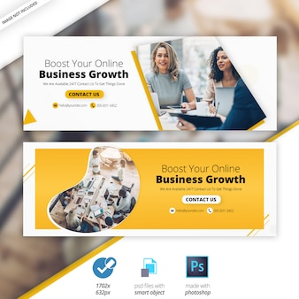 Zakelijke marketing facebook tijdlijn cover banner