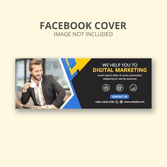 Zakelijke marketing of facebook voorbladsjabloon