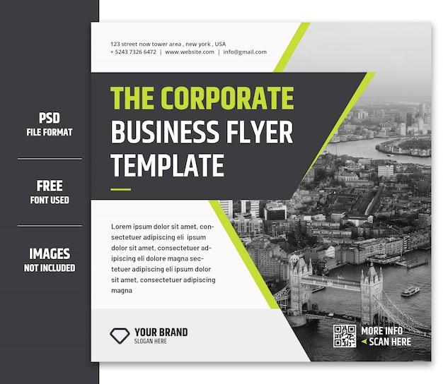 Zakelijke marketing sociale media-banner of vierkante flyer-sjabloon premium psd - 3